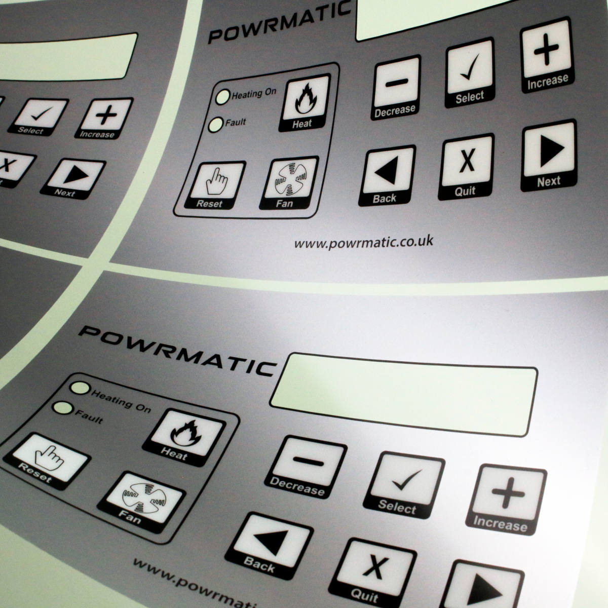 SCREEN PRINT METALLIC MEMBRANE KEYPAD GRAPHIC